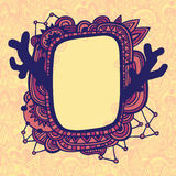 Card with ornate frame Royalty Free Stock Images