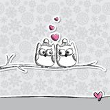 Card with owls Stock Image