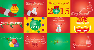 Card pack set. 12 Merry Christmas card pack set Royalty Free Stock Photography