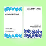 Card with paper flowers. Royalty Free Stock Photo