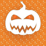 Card with paper pumpkin Royalty Free Stock Image