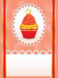 Card with party cupcake Royalty Free Stock Images