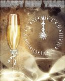 Card with Party Elements. For New Year Royalty Free Stock Images