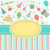 Card with party stuff Royalty Free Stock Photography