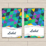 Card with Pattern of Colorful Lozenges Stock Photos