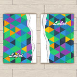 Card with Pattern of Colorful Lozenges Royalty Free Stock Photos