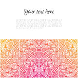 Card with pattern Royalty Free Stock Images