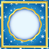 Card with pattern with snowflakes - vector Royalty Free Stock Photo