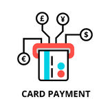 Card payment icon, for graphic and web design. Modern flat editable line design vector illustration, card payment icon, for graphic and web design Stock Photography