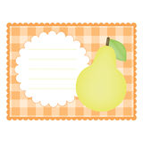 Card with pear Royalty Free Stock Image