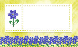Card for a photo or invitation stock photography
