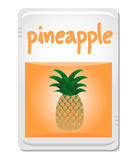 Card pineapple Stock Photo