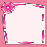 Card with a pink bow Royalty Free Stock Photos
