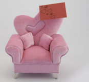 Card on Pink Chair Royalty Free Stock Images