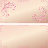 Card pink patterns Royalty Free Stock Photo