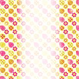 Card with Pink Yellow Stylized Flower Pattern Stock Image