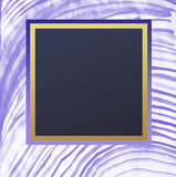 Square frame on Watercolor violet stripes drawn along an arc Royalty Free Stock Photography