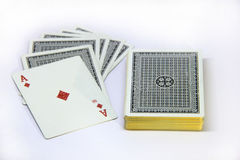 Card. Play card with your friend royalty free stock photo
