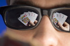 Card Player Royalty Free Stock Images