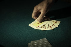 The card player Royalty Free Stock Images