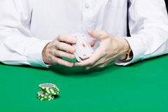 Card player Royalty Free Stock Photography