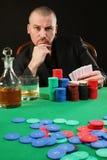 Card player winning Stock Image