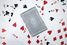Card with playing cards Stock Image