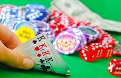 Card for poker Stock Photos