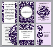 Card. poster, brochure template with oriental flower.russian bac Royalty Free Stock Images