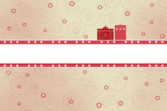 Card with presents Royalty Free Stock Photography