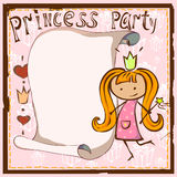 Card for the princess Stock Photography