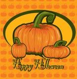 Card with  pumpkin Royalty Free Stock Photos