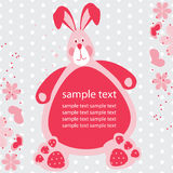 Card with a rabbit for a baby Stock Photography