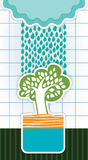 Card with rain clouds Royalty Free Stock Photo