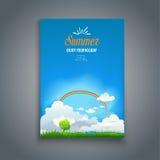 Card with rainbow Royalty Free Stock Photo