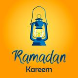 Ramadan Kareem card with lamp. stock illustration