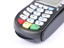 Card Reader. A card reader on white backgroud Stock Photo