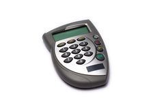 Card reader. Bank card reader, internet banking authorization device Royalty Free Stock Photo