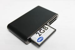 Card Reader with CF Card Royalty Free Stock Images
