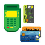 Card reader Royalty Free Stock Image