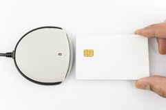 Card reader with copy space Royalty Free Stock Images