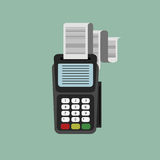 Card reader icon Royalty Free Stock Images