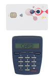 Card reader for reading a bank card Royalty Free Stock Image