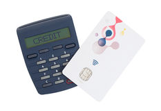 Card reader for reading a bank card Stock Image