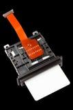 Card reader spares port on black Stock Photo