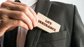 A card reading Life insurance Royalty Free Stock Photography