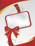Card with red bow Royalty Free Stock Photo