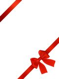 Card With Red Bow Royalty Free Stock Photography