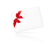 Card with red bow Stock Image