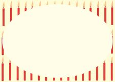 Card with red candles Royalty Free Stock Photos